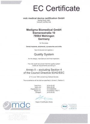 EC Certificate exp. 5.2024